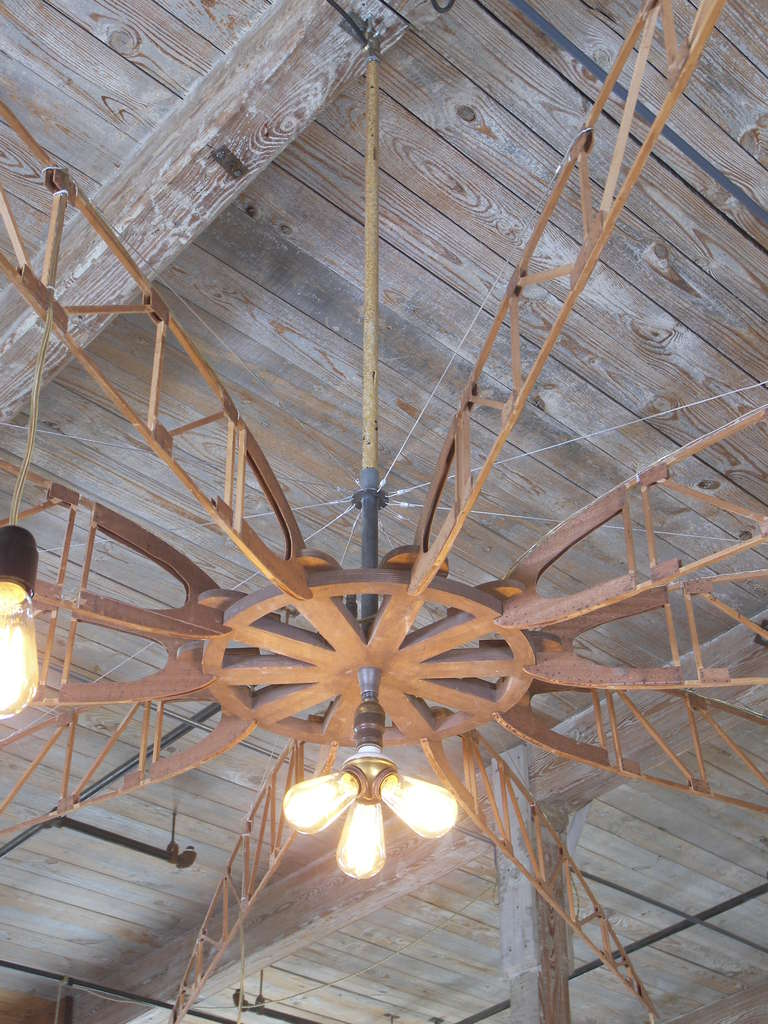 Airplane Truss Chandelier For Sale 4