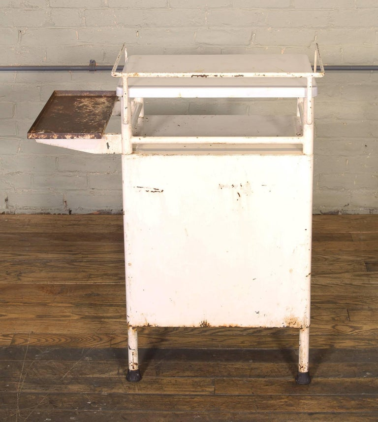 Antique Distressed Medical Storage Cabinet For Sale 1