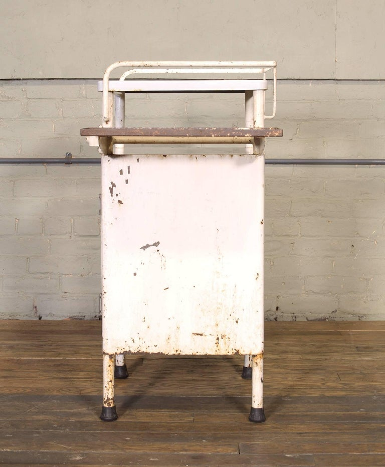 Antique Distressed Medical Storage Cabinet For Sale 4