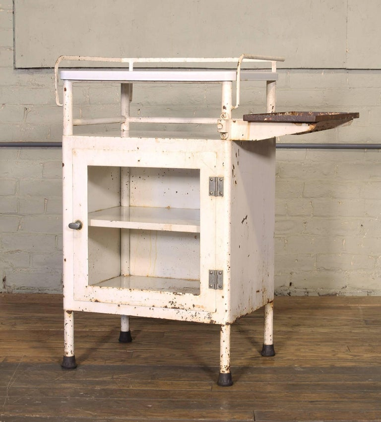 Antique Distressed Medical Storage Cabinet For Sale 5