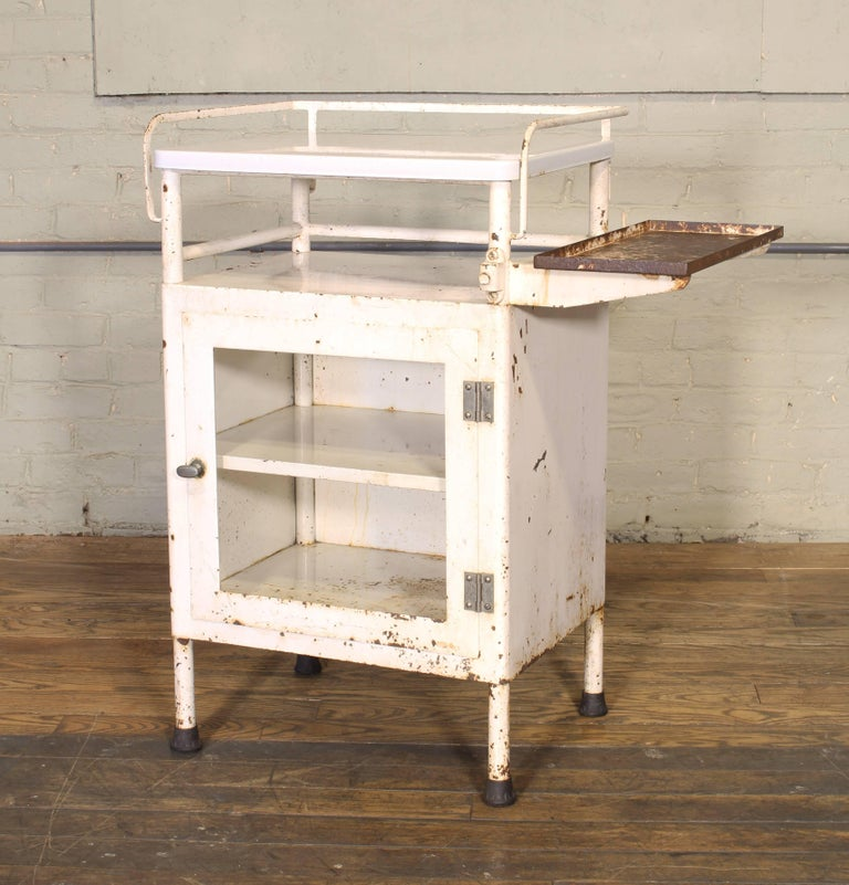Antique Distressed Medical Storage Cabinet For Sale 6