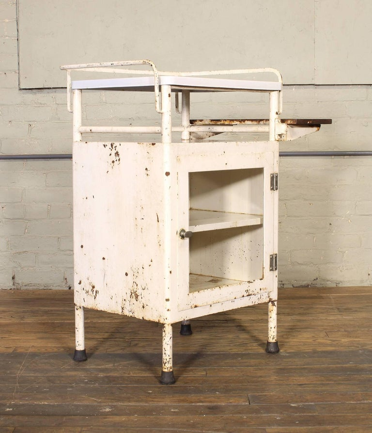 Antique Distressed Medical Storage Cabinet For Sale 10