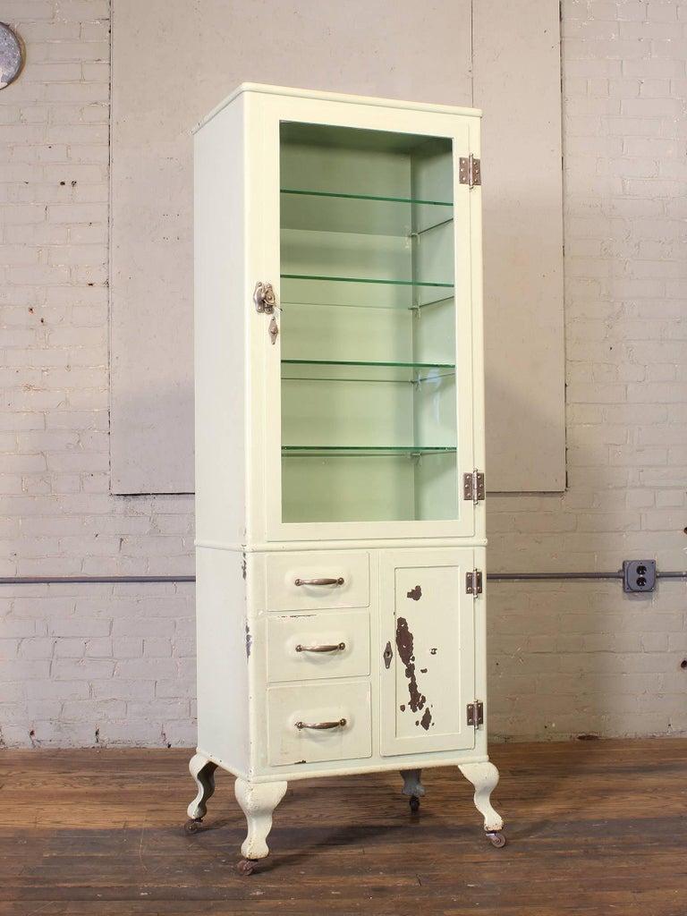 Industrial Antique Medical Cabinet For Sale