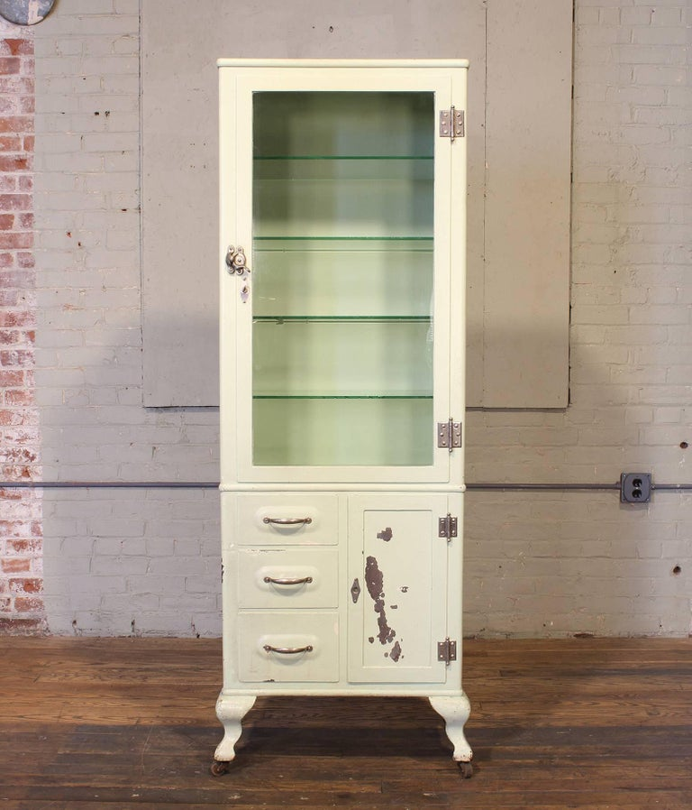 American Antique Medical Cabinet For Sale