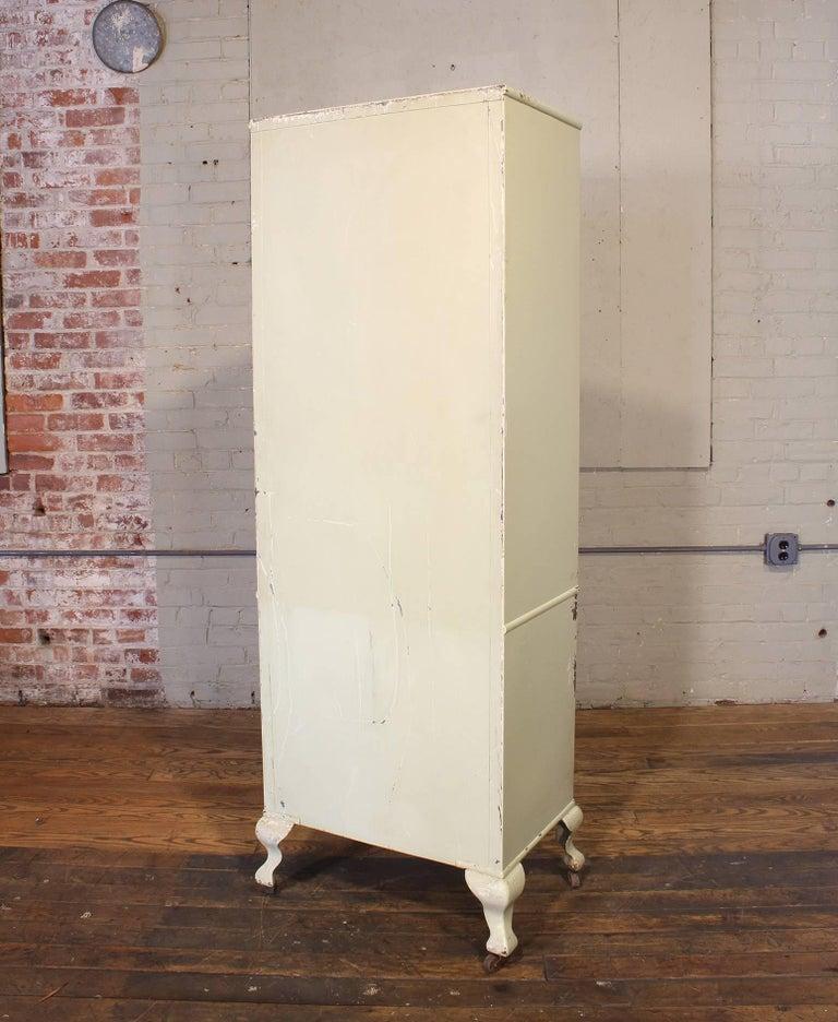 Metal Antique Medical Cabinet For Sale