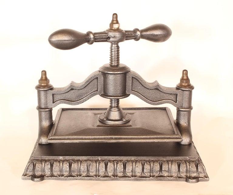 American Antique Cast Iron Book Press For Sale