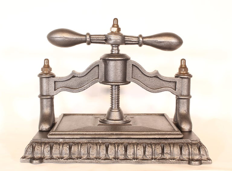 19th Century Antique Cast Iron Book Press For Sale