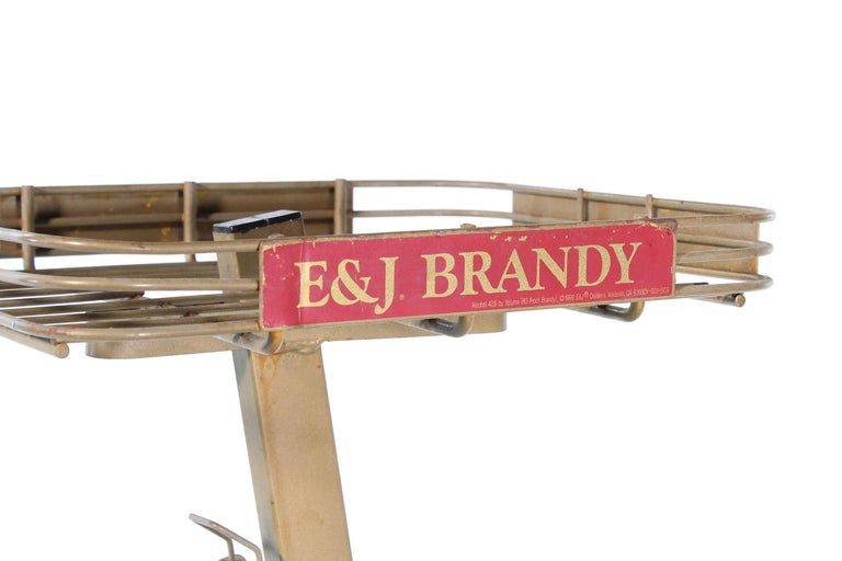 Vintage Liquor Alcohol Advertising Stock Stand for E&J Brandy For Sale 5