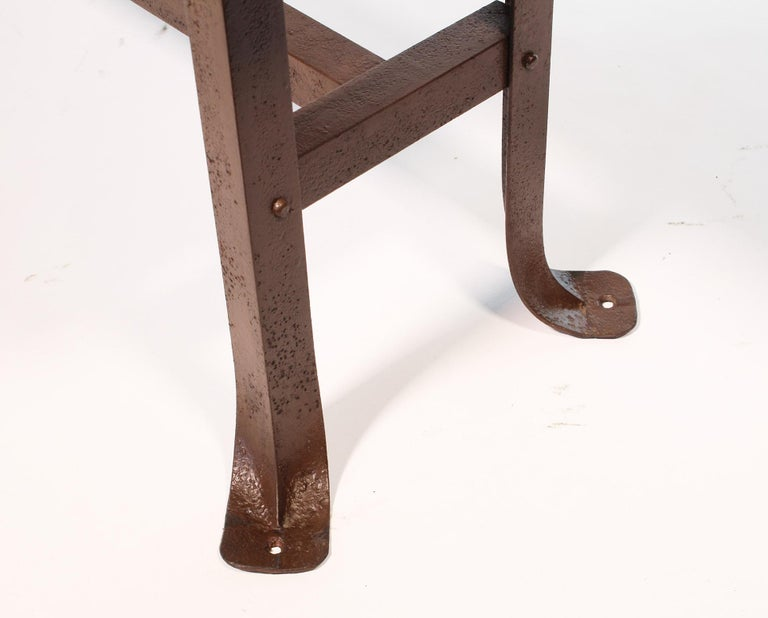 Metal Vintage Industrial Factory Waiting Bench For Sale