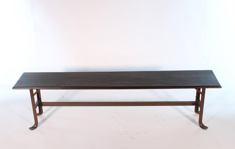 Vintage Industrial Factory Waiting Bench For Sale 6