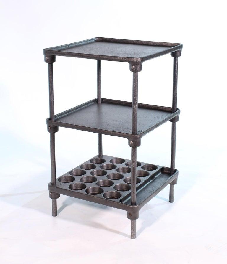 Vintage Industrial Three-Tier Cast Iron