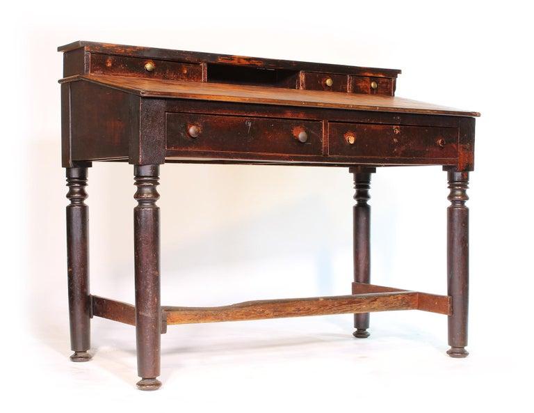 American Vintage Industrial Foreman's Work Desk For Sale - Vintage Industrial Foreman's Work Desk At 1stdibs