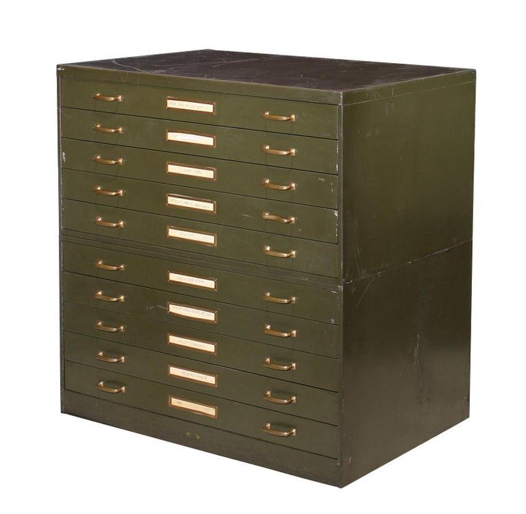 Vintage steel flat file cabinet by Steel Age Corp. 40