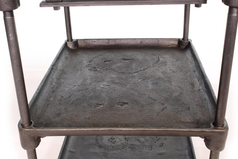 Three-Tier Cast Iron Table For Sale 3