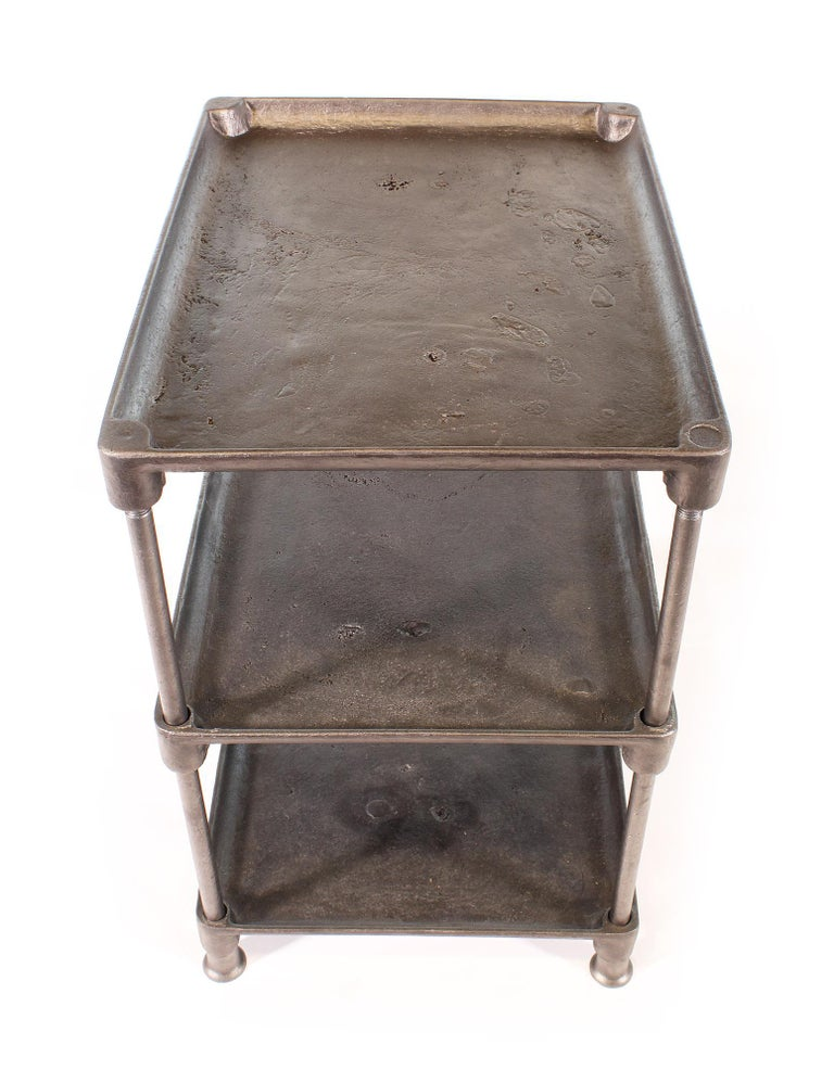 Three-Tier Cast Iron Table For Sale 4