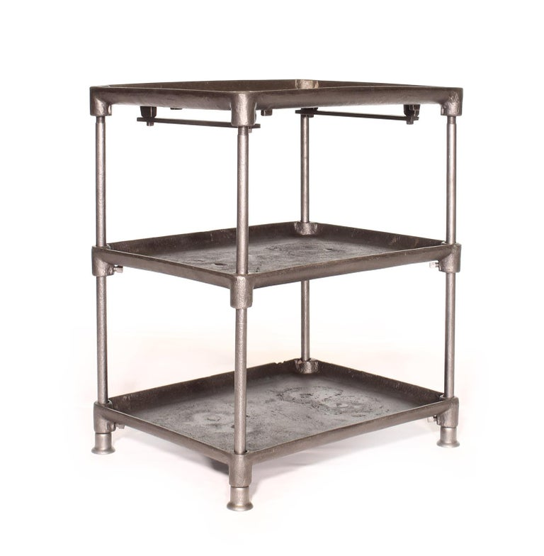Three-Tier Cast Iron Table In Good Condition For Sale In Oakville, CT