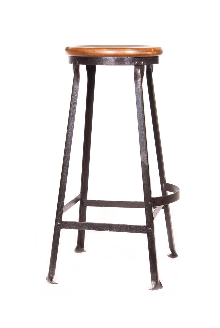 American Factory Shop Bar Stool For Sale
