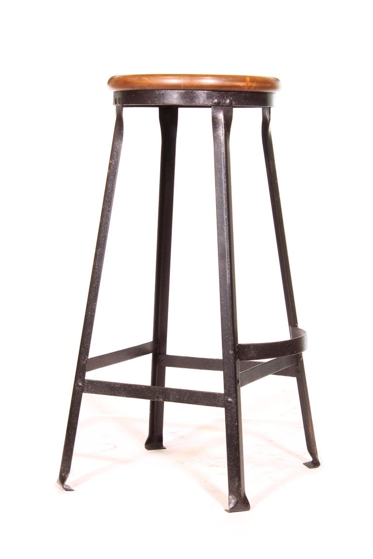 20th Century Factory Shop Bar Stool For Sale