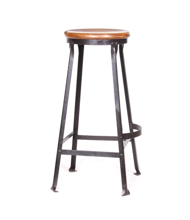 Metal Factory Shop Bar Stool For Sale