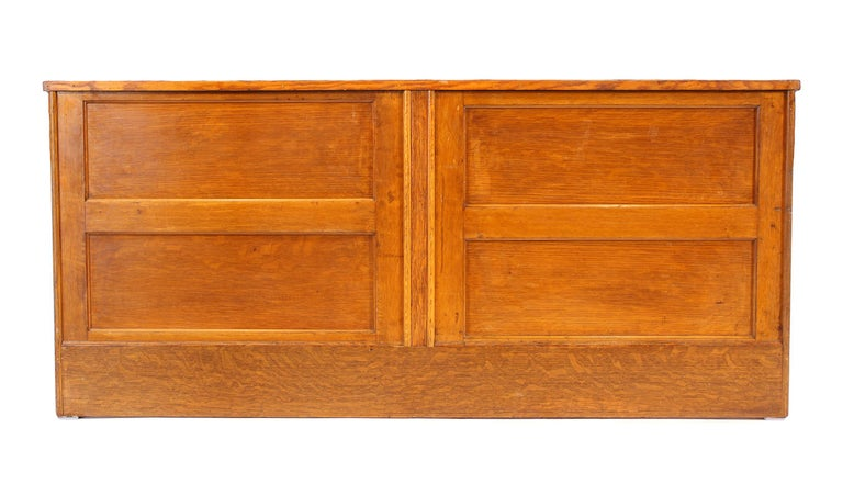 Vintage Oak Flat File Cabinet Kitchen Island For Sale 11