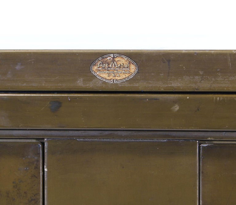 Vintage Industrial Army Green Art-Metal Combination Flat File and Filing Cabinet For Sale 10