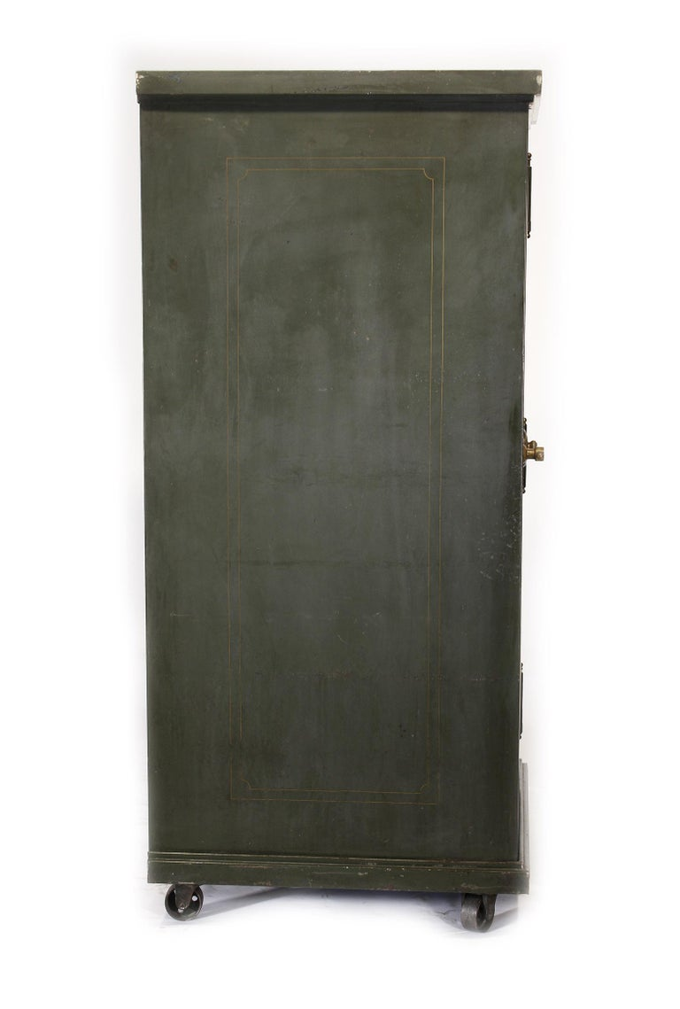 Industrial Vintage Steel Safe-Cabinet Co. Safe For Sale