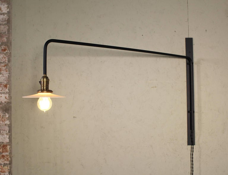 Industrial Swing Out Wall Sconce Light For Sale 3