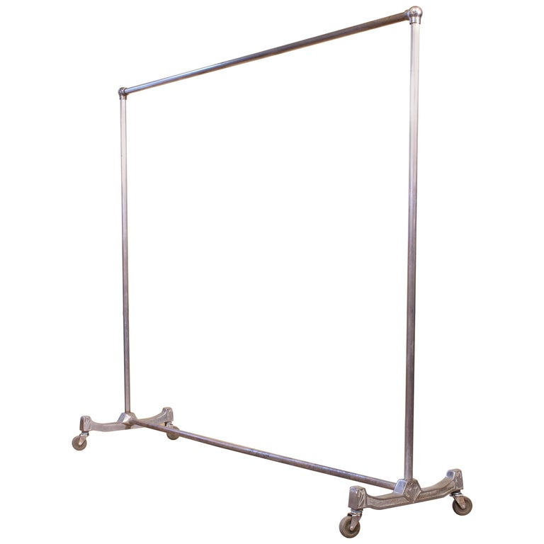 Cast Set of Two Art Deco Clothing Racks For Sale