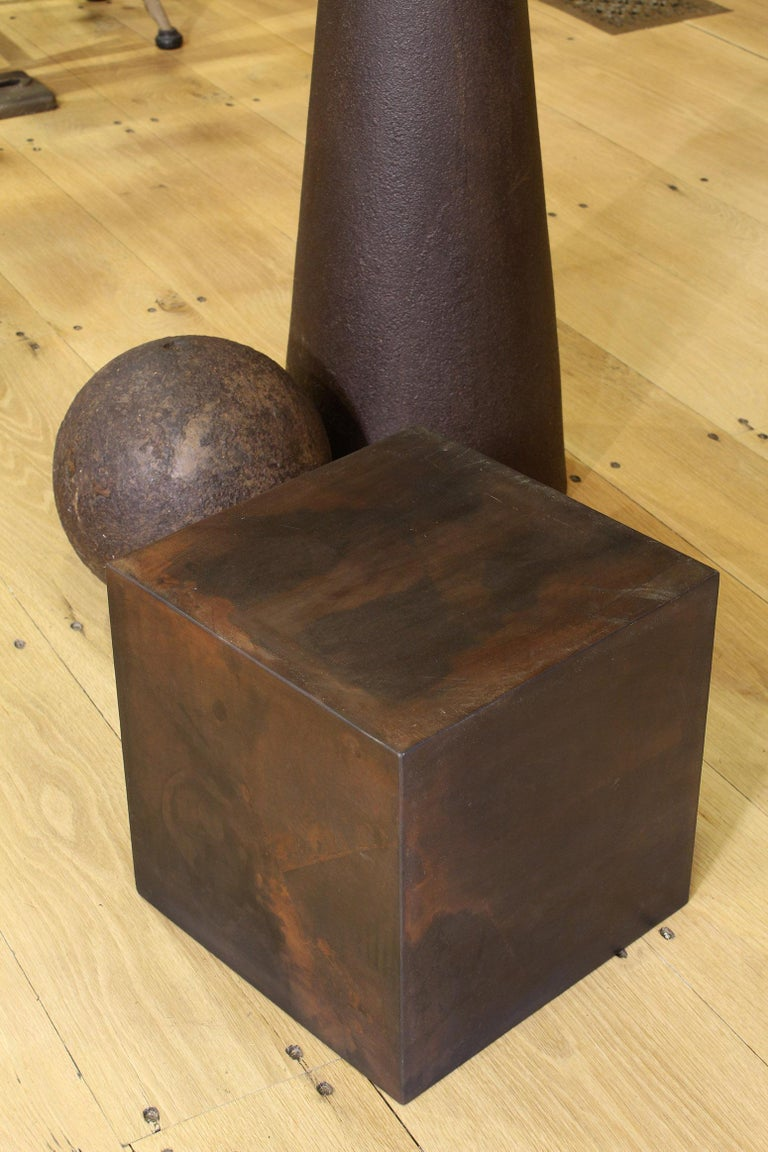 Industrial Art Sculpture 101, Cube, Sphere, Cone For Sale 1