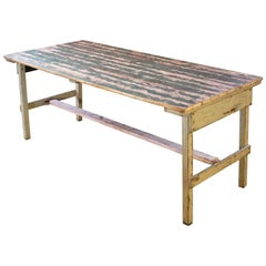 Distressed Farm Table, Authentic Vintage Harvest Style