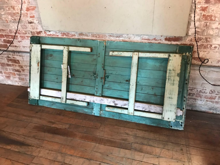 Distressed Farm Table, Authentic Vintage Harvest Style For Sale 2