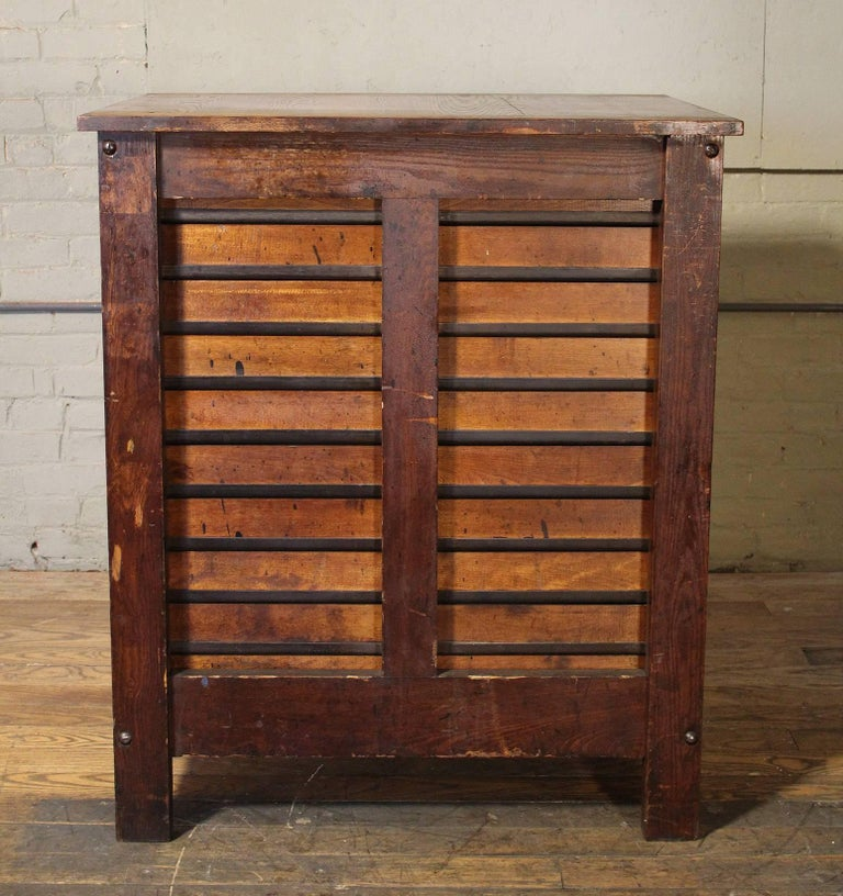 20th Century Wooden Printing Storage Cabinet by Hamilton For Sale