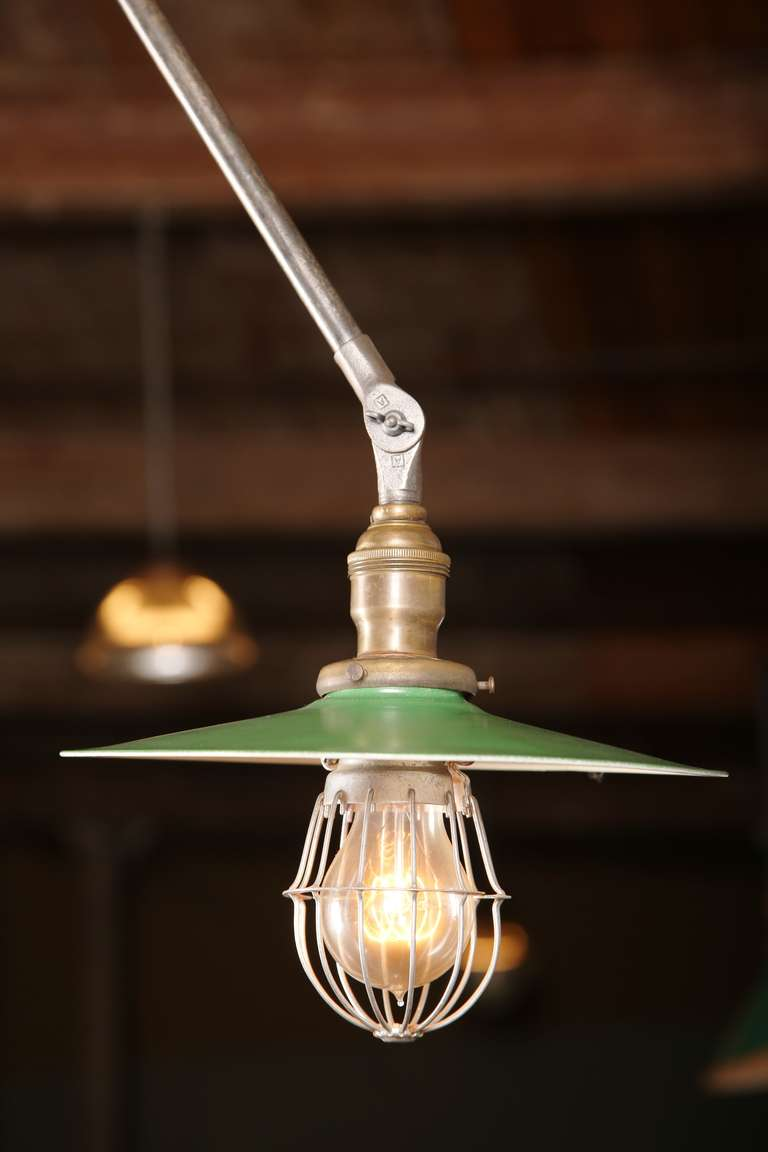 American Vintage Industrial Pendant Lamp by OC White For Sale