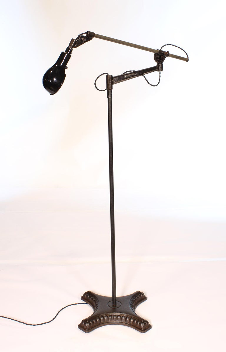 American Vintage Industrial Adjustable Floor Lamp