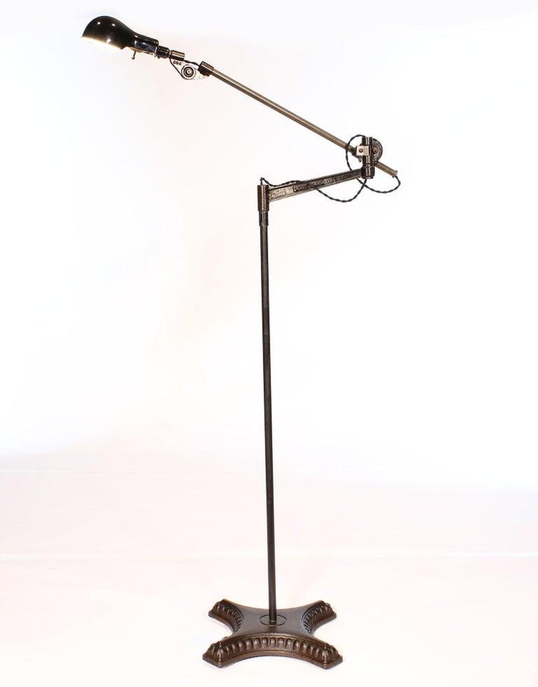 Metal Vintage Industrial Adjustable Floor Lamp