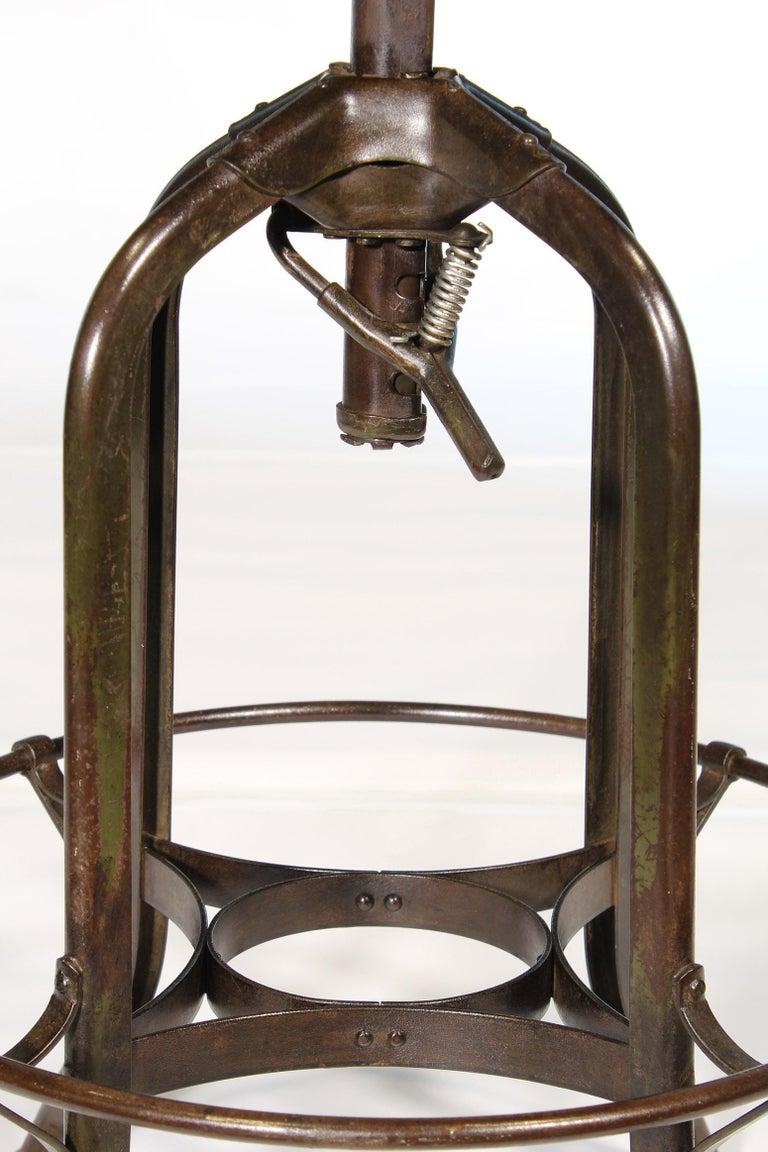 Authentic Vintage Industrial Adjustable Backless Toledo Stool For Sale 2