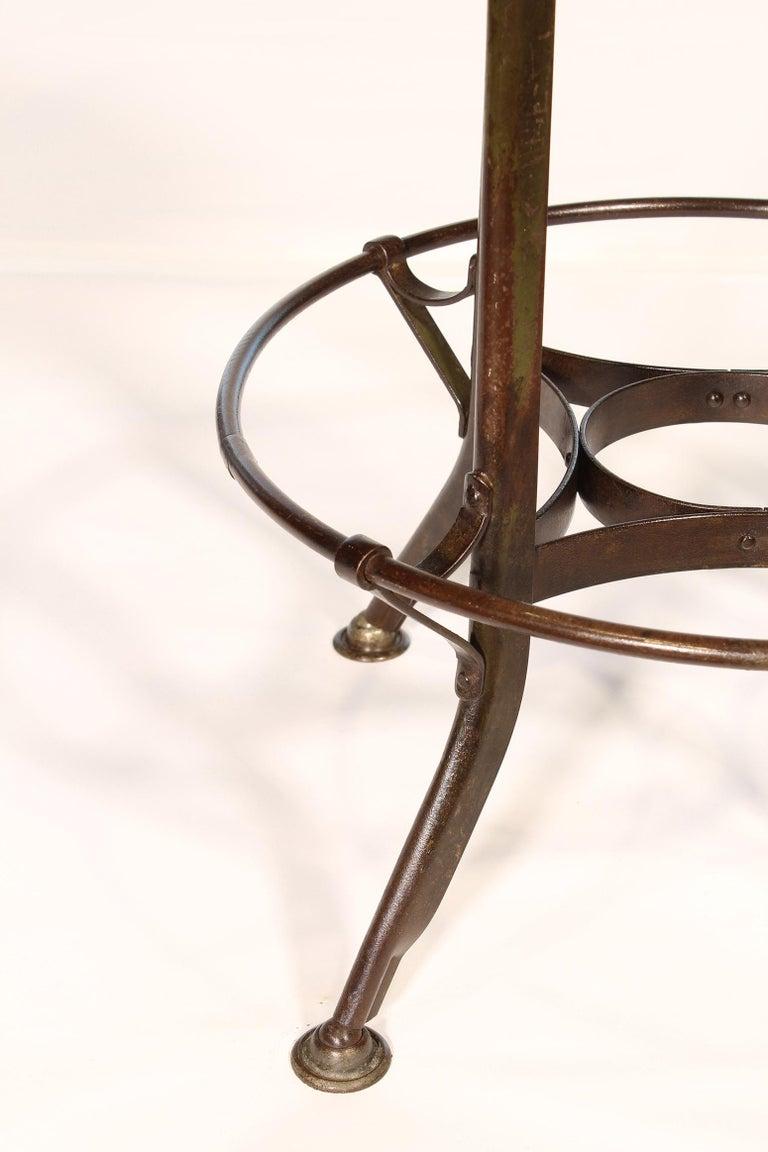 Authentic Vintage Industrial Adjustable Backless Toledo Stool For Sale 4