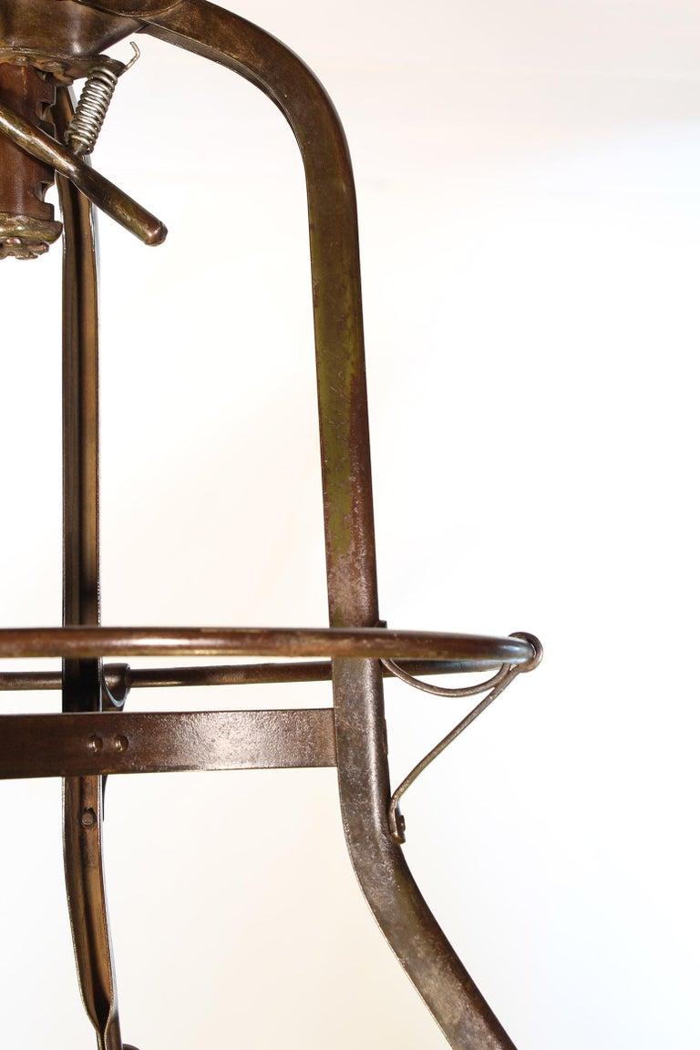 Authentic Vintage Industrial Adjustable Backless Toledo Stool For Sale 6