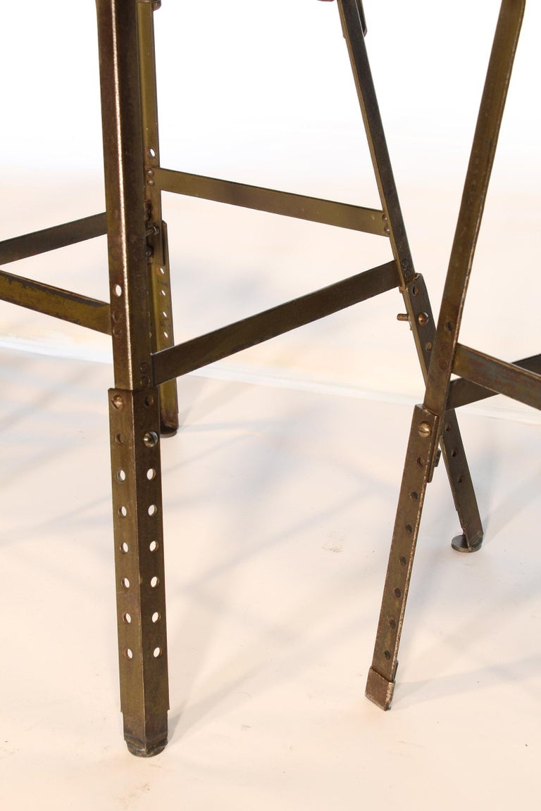 Set of 3 Authentic Vintage Industrial Factory Stools For Sale 6