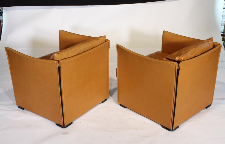 Mario Bellini Tilbury Leather Armchairs For Sale 2