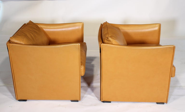 Mario Bellini Tilbury Leather Armchairs For Sale 7