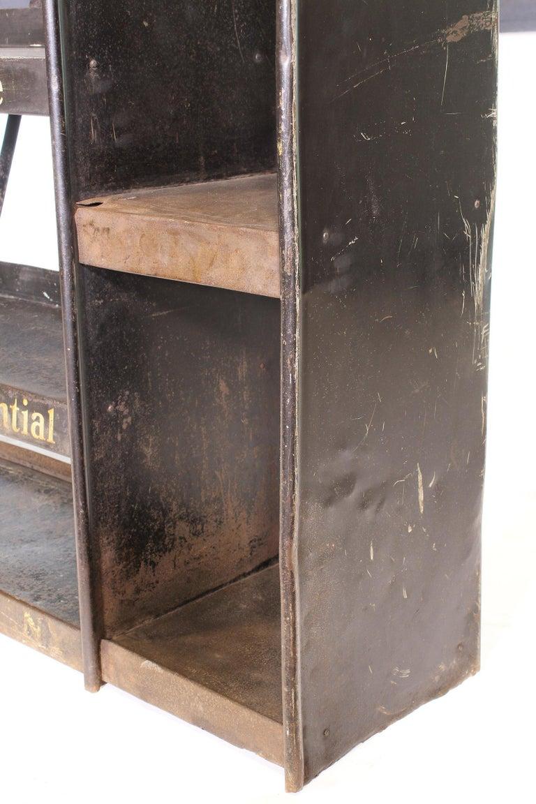 20th Century Vintage Gargoyle Mobil Oil Metal Display Rack For Sale