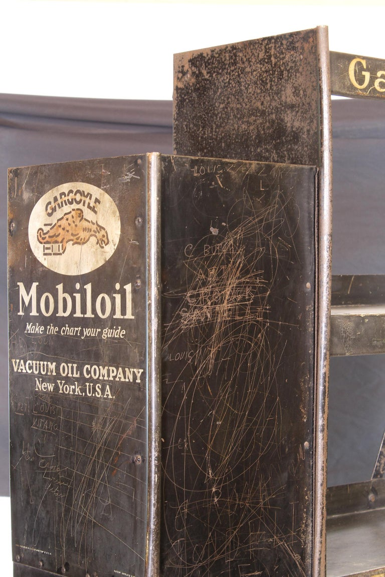 Vintage Gargoyle Mobil Oil Metal Display Rack For Sale 1