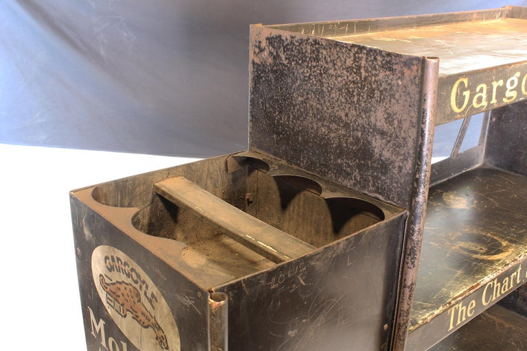 Vintage Gargoyle Mobil Oil Metal Display Rack For Sale 2