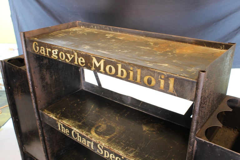 Vintage Gargoyle Mobil Oil Metal Display Rack For Sale 3
