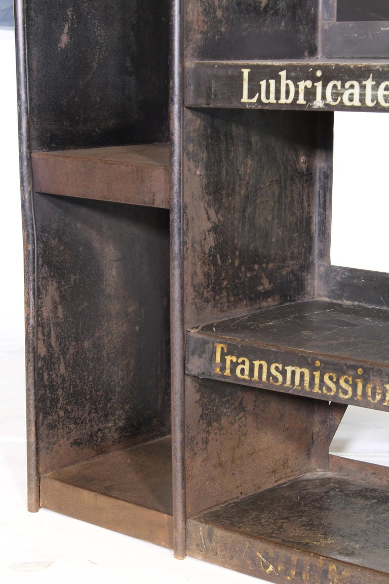Vintage Gargoyle Mobil Oil Metal Display Rack For Sale 4