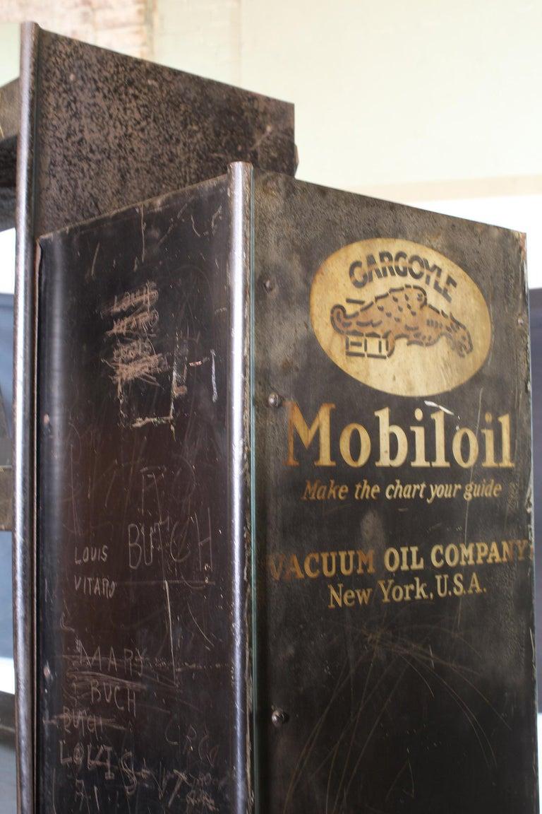 Vintage Gargoyle Mobil Oil Metal Display Rack For Sale 10