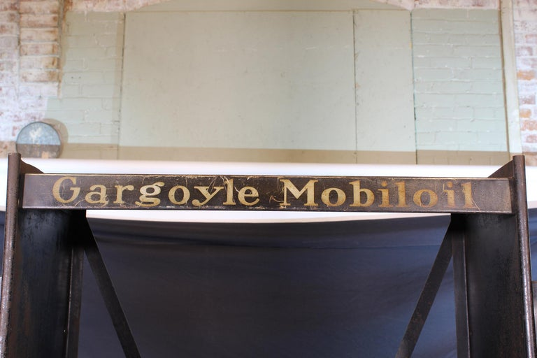Vintage Gargoyle Mobil Oil Metal Display Rack For Sale 11