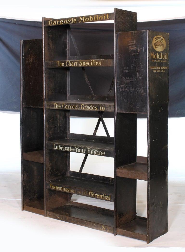 American Vintage Gargoyle Mobil Oil Metal Display Rack For Sale