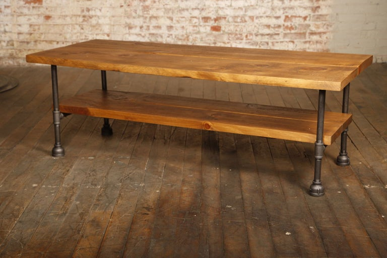 Bespoke Industrial Coffee Table For Sale At 1stdibs